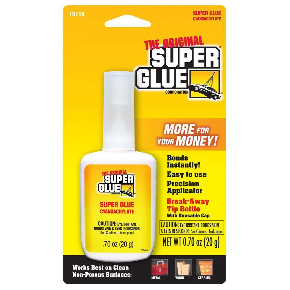 0.70 oz. Super Glue Bottle with Breakaway Tip (12-Pack)