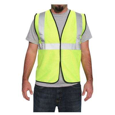 XL Safety Sack Yellow Lime Polyester Mesh Safety Vest