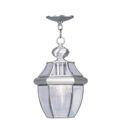 Providence 1-Light Outdoor Brushed Nickel Incandescent Pendant