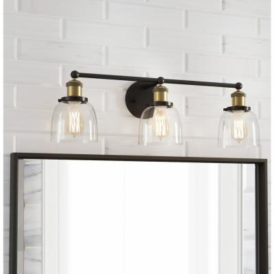 Evelyn 3-Light Artisan Bronze Vanity Light