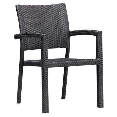 Boracay Espresso Wicker Outdoor Patio Dining Chair (2-Pack)