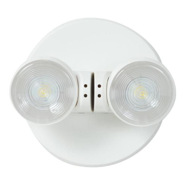 All Pro Apwr 25 Watt White Integrated Led Emergency Light With 2 Remote Heads Apwr2 The Home Depot