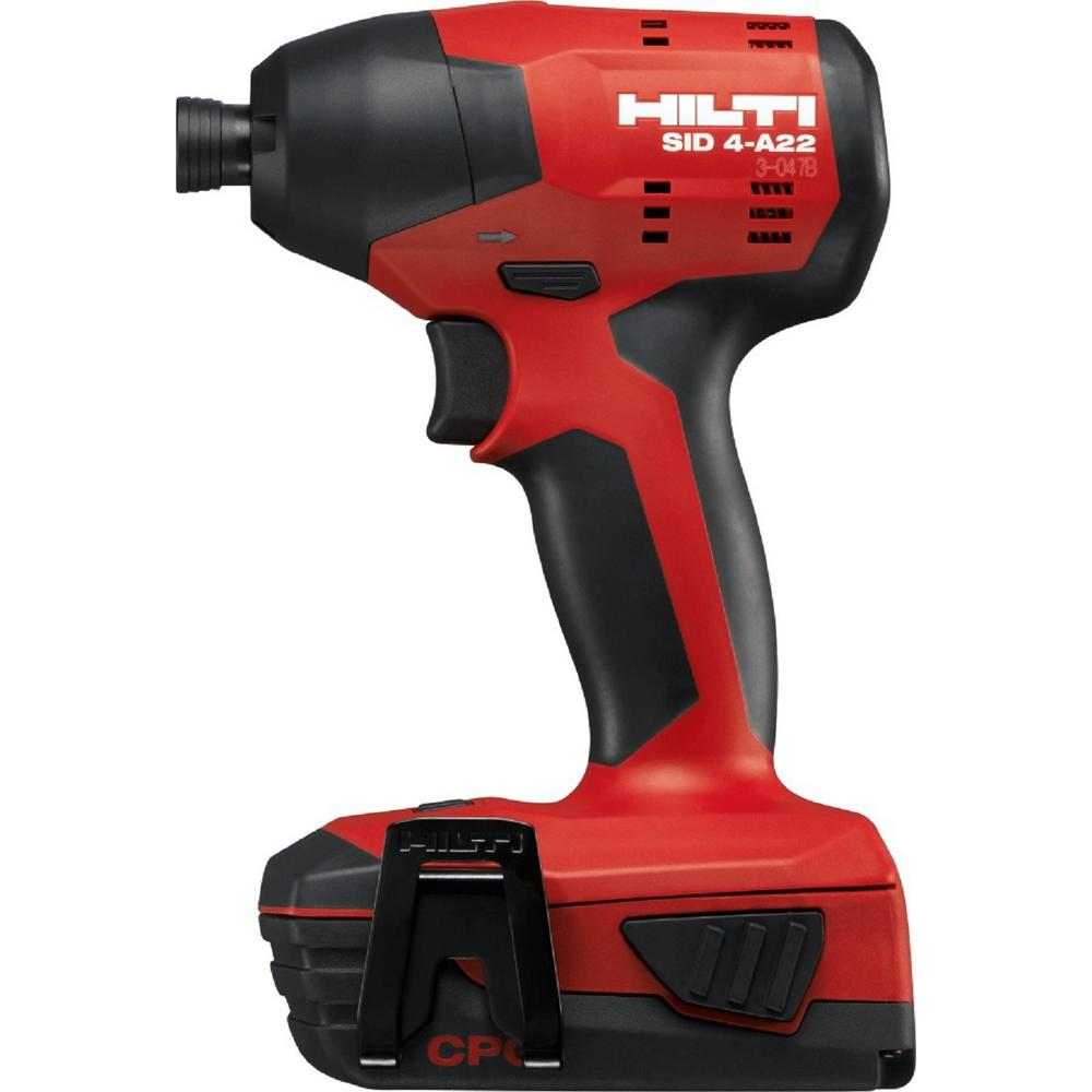 Hilti 22-Volt Lithium-Ion 1/4 in. Hex Cordless SID 4 Impact Driver