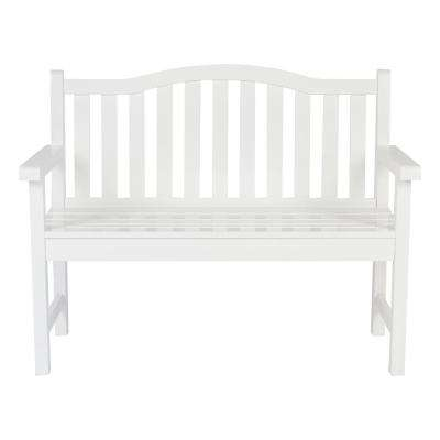 Belfort Cedar Wood Outdoor Garden Bench 43.25 in. - White