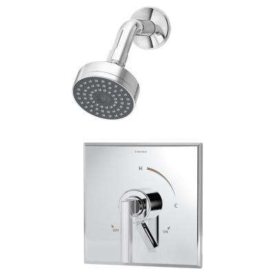 Duro Shower Valve Trim Kit with Volume Control Lever in Chrome (Valve Not Included)