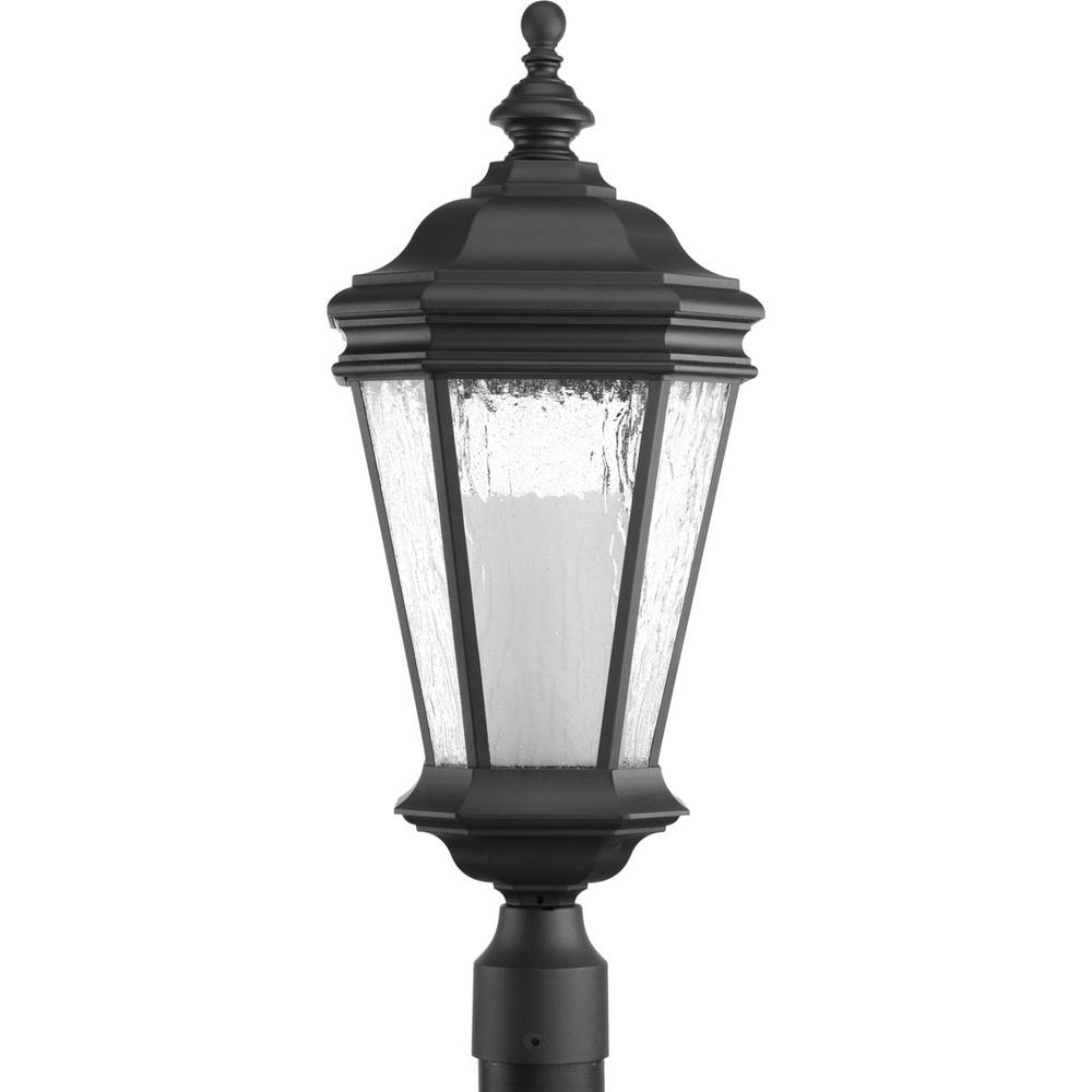 Crawford Collection 1-Light Black Outdoor Post Lantern