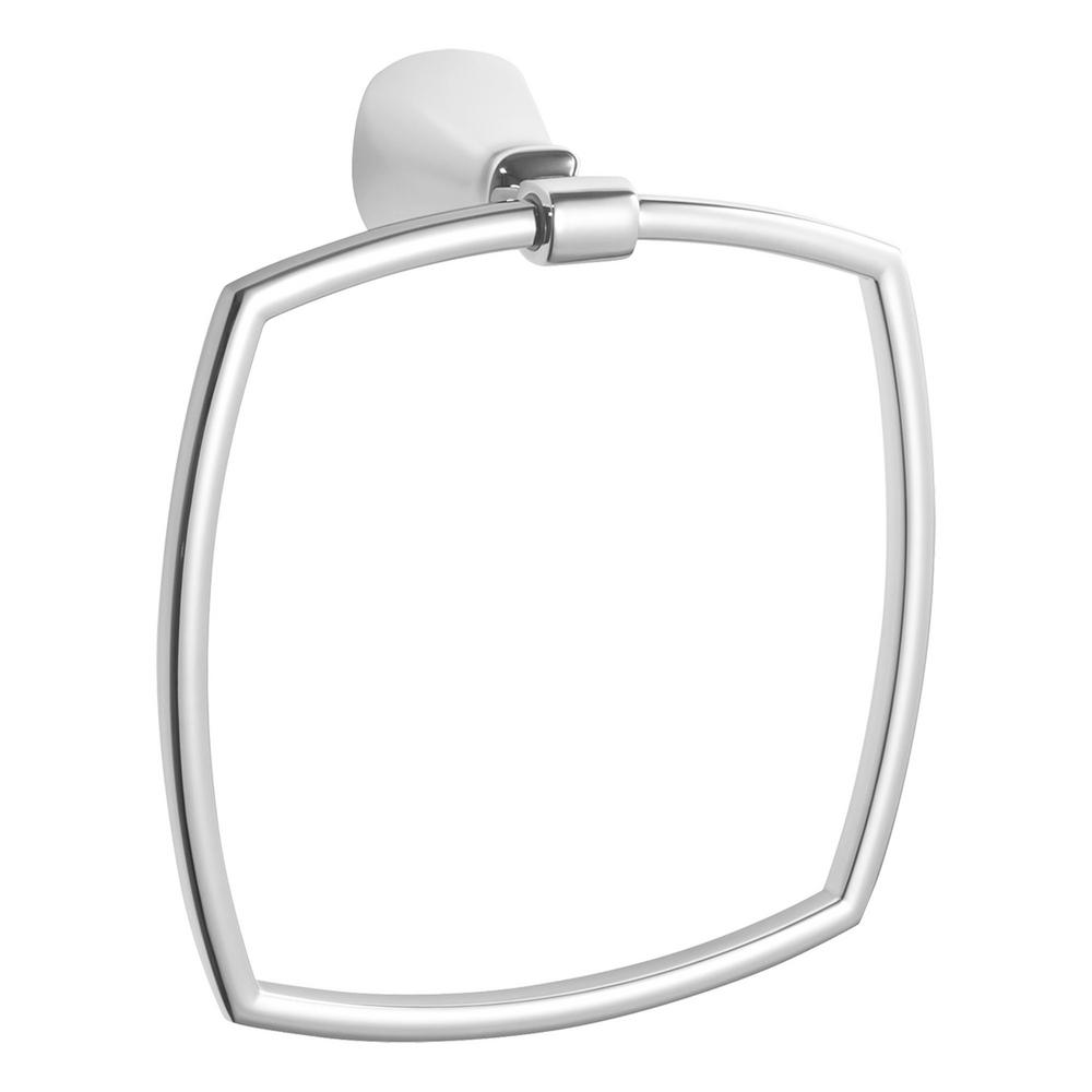 Edgemere Towel Ring in Polished Chrome