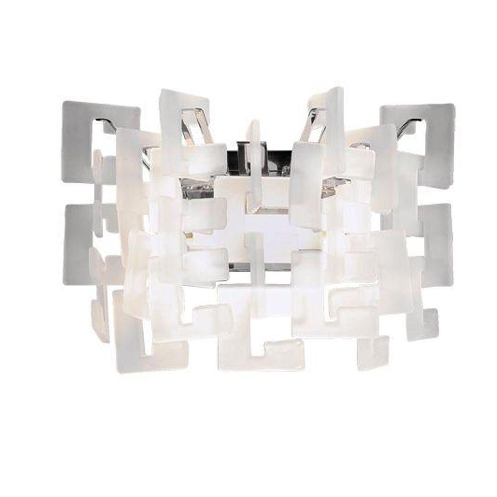 Eurofase Numero Collection 1-Light Chrome Wall Sconce-DISCONTINUED