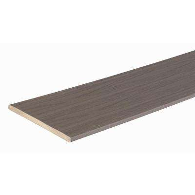 Azek Harvest Collection 1/2 in. x 11-3/4 in. x 12 ft. Island Oak Fascia Capped Polymer Decking Board