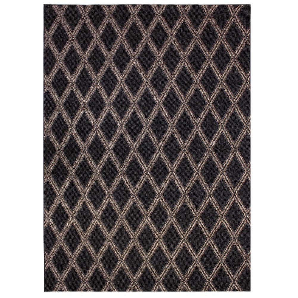 Diamond Brown 5 ft. x 7 ft. Indoor/Outdoor Area Rug
