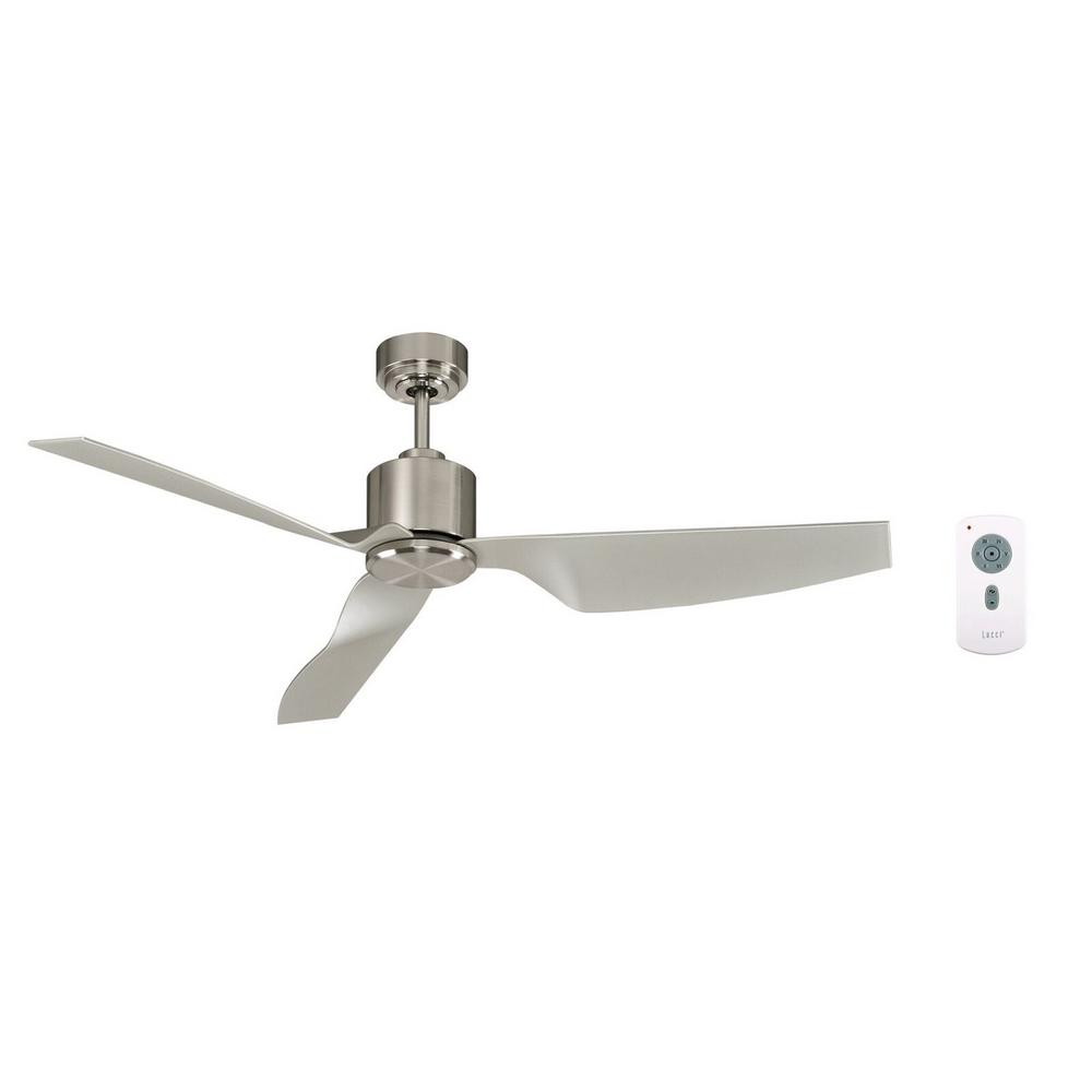 Lucci Air Airfusion Climate Ii 50 In Brushed Chrome Dc Ceiling Fan