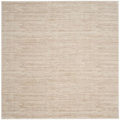 Vision Cream 4 ft. x 4 ft. Square Area Rug
