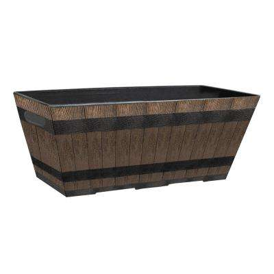 10 in. L x 20 in. W x 7.6 in. H Whiskey Barrel Resin Window Box