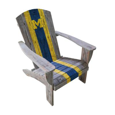 U Michigan Wood Adirondack Chair
