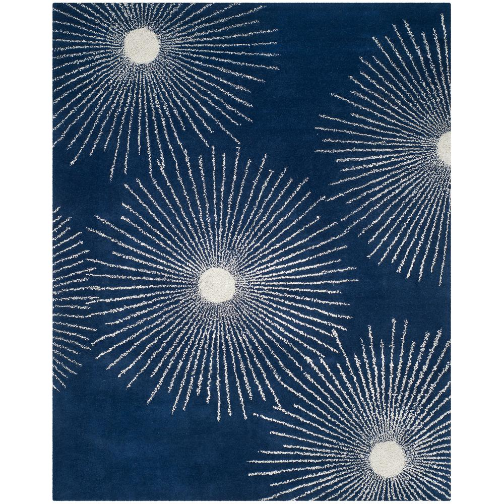 Soho Dark Blue/Ivory 8 ft. 3 in. x 11 ft. Area