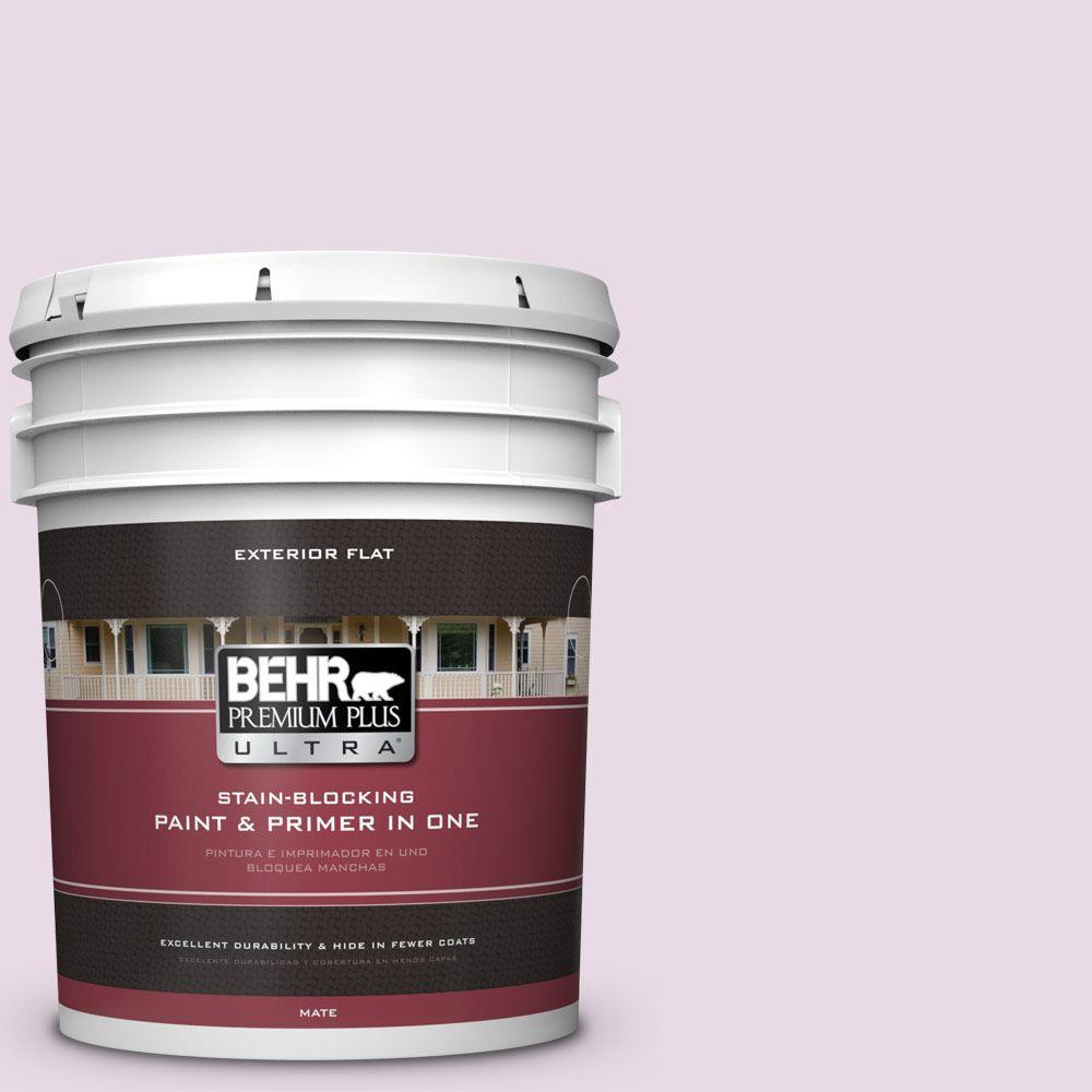 BEHR Premium Plus Ultra 5-gal. #M110-1 Twinkled Pink Flat Exterior Paint