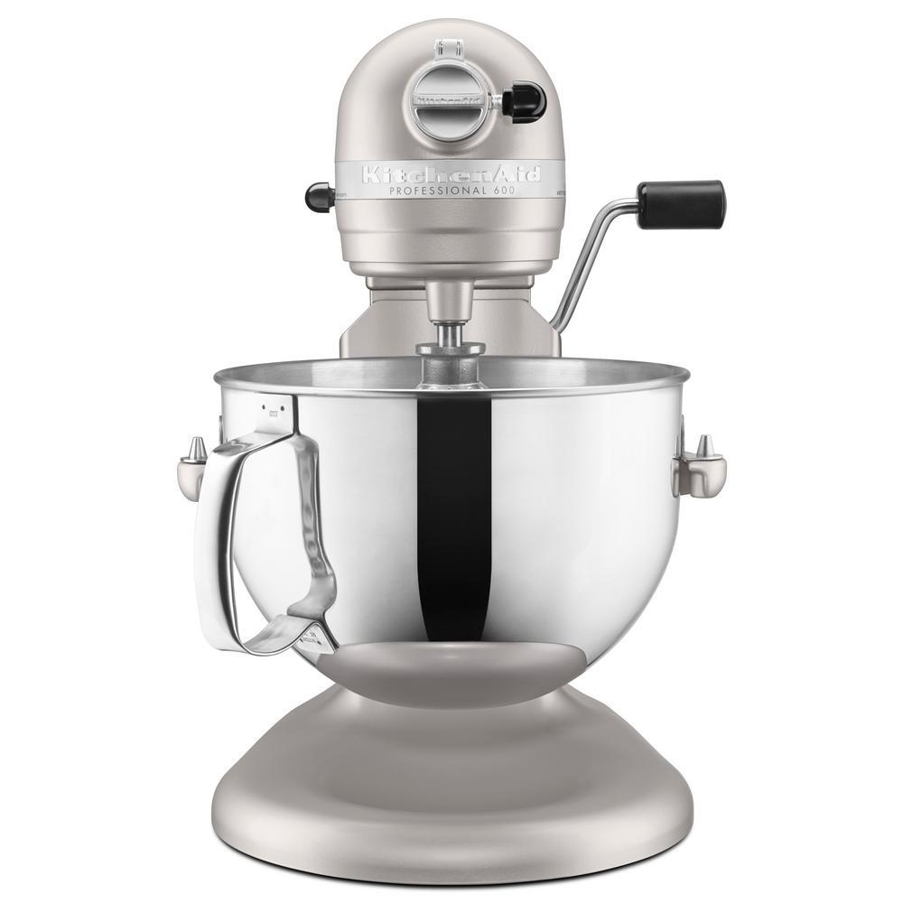 Kitchenaid Professional 600 Series 6 Qt Nickel Pearl Stand Mixer