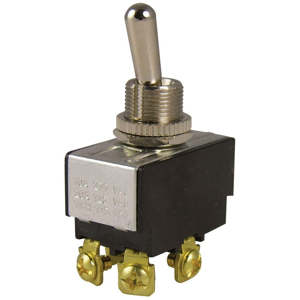 Gardner Bender 20 Amp Double Pole Toggle Switch 1 Pack Gsw 14 Wiring 2 Light Switches Store Sku 540366