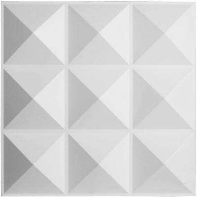 1-3/8 in. x 19-5/8 in. x 19-5/8 in. PVC White Benson EnduraWall Decorative 3D Wall Panel
