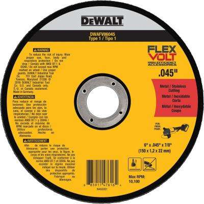 FLEXVOLT 6 in. x 0.045 in. x 7/8 in. Cutting Wheel Type 1