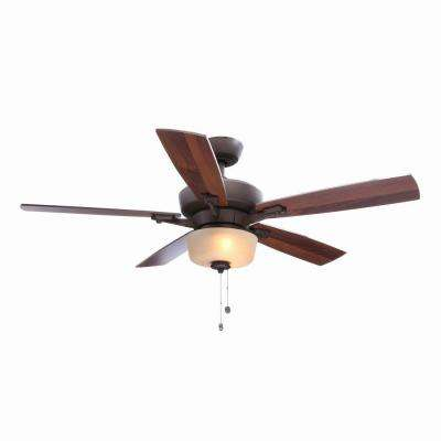 Hawthorne II 52 in. Indoor Oil-Rubbed Bronze Ceiling Fan with Light Kit