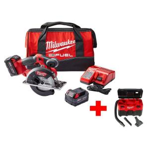 Milwaukee M18 FUEL 18-Volt Brushless Lithium-Ion 5-3/8 inch Cordless Metal Saw Kit with Free M18 Wet/Dry... by Milwaukee