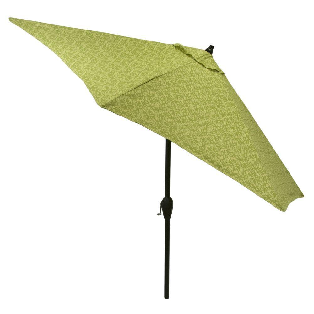 Aluminum Patio Market Umbrella In Prairie Tonal