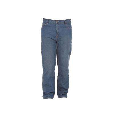 Men's 32 in. x 36 in. Stone Wash Dark Cotton Classic Carpenter Jeans