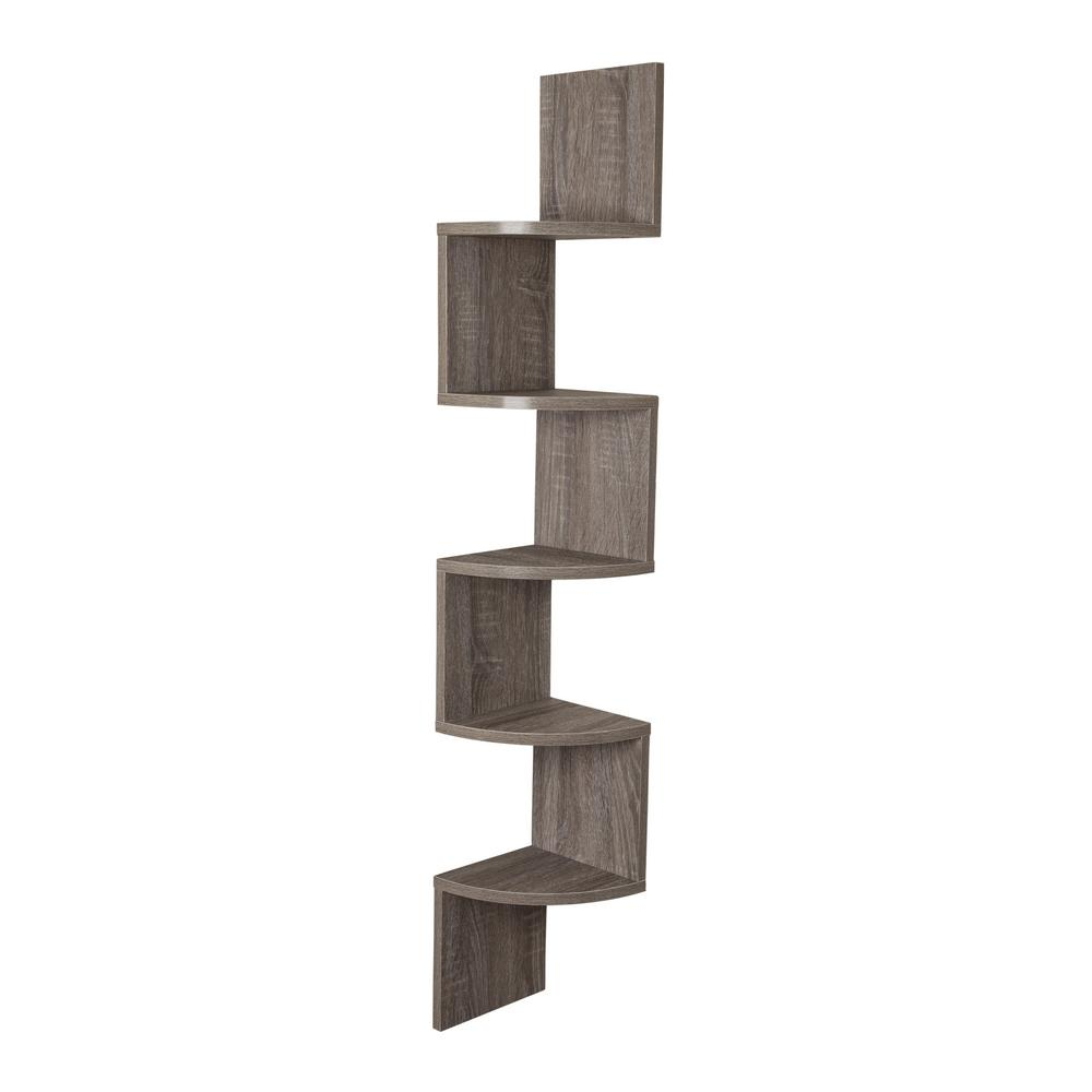 Danya B Zig Zag 7 75 In W X 7 75 In D Floating Laminate Corner