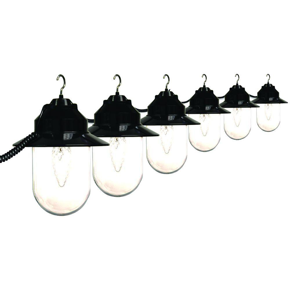 Polymer 6-Light Outdoor Old Savannah String Lights with B...