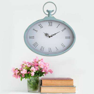 Shabby Pocket Watch Wall Clock