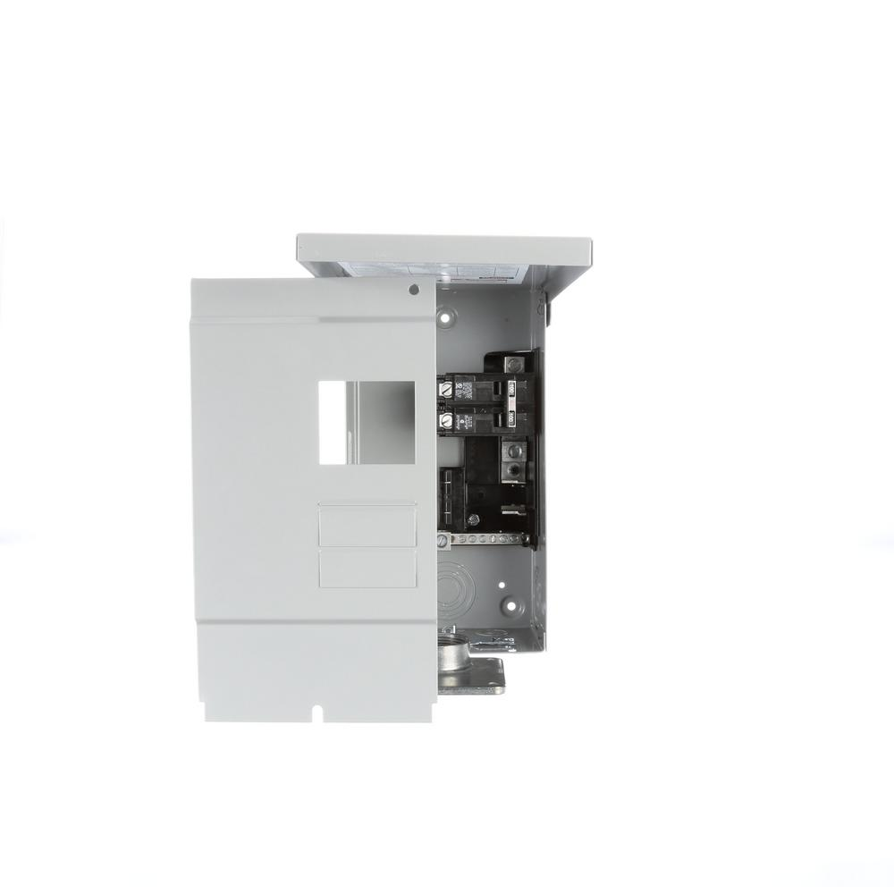 murray 100 amp 2-space 4-circuit main breaker outdoor rated trailer panel