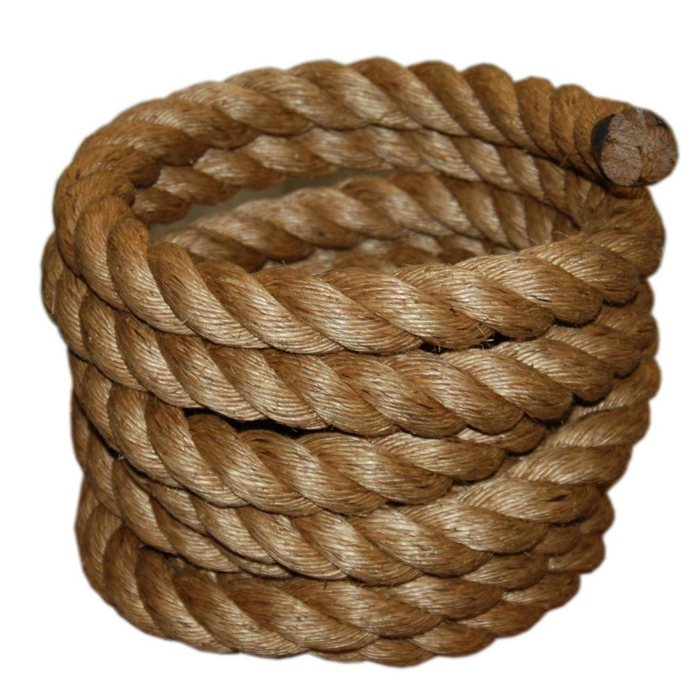 T.W. Evans Cordage 2 in. x 50 ft. Manila Rope