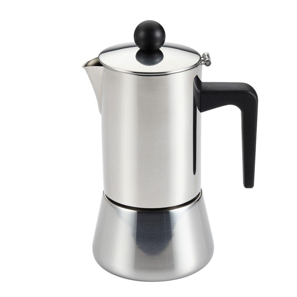 Stovetop Coffee Maker Home : BonJour 4-Cup Stovetop Espresso Maker in Stainless Steel-53916 - The Home Depot