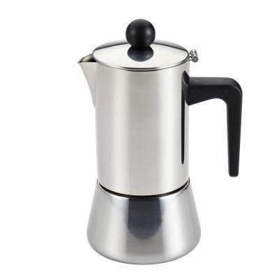 4-Cup Stovetop Espresso Maker in Stainless Steel