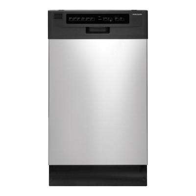 18 in. Front Control Dishwasher in Stainless Steel with Stainless Steel Tub, ENERGY STAR, 55 dBA