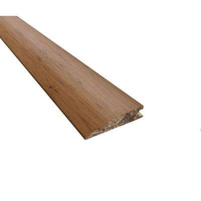 Strand Woven Bamboo Almond 0.48 in. Thick x 20.0 in. Wide x 72 in. Length Bamboo Reducer Molding