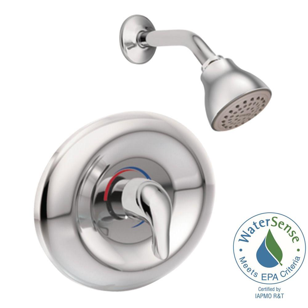 Chateau Single-Handle 1-Spray Shower Faucet Trim Kit in Chrome (Valve Sold