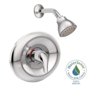 Moen Chateau Single-Handle 1-Spray Shower Faucet Trim Kit in Chrome (Valve Sold Separately) by MOEN