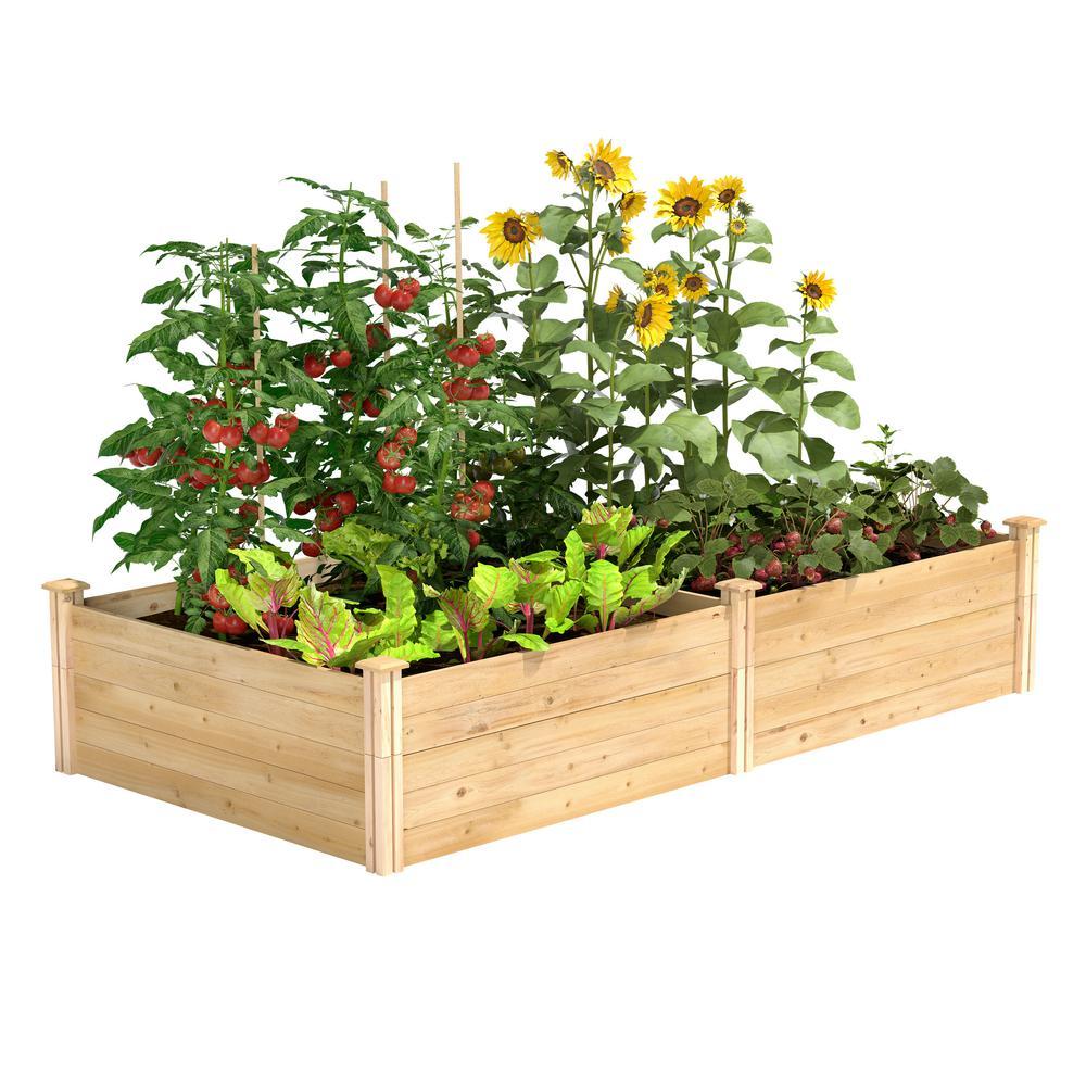 4 ft. x 8 ft. x 17.5 in. Original Cedar Raised Garden Bed