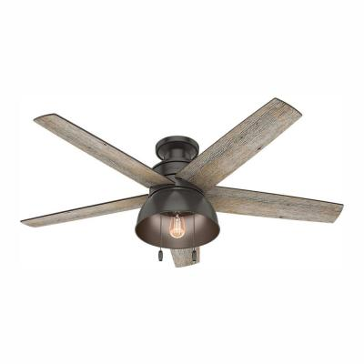 Bishop Hill 52 in. LED Indoor/Outdoor Noble Bronze Ceiling Fan with Light Kit