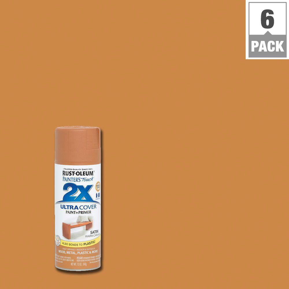 Rust-Oleum Painter's Touch 2X 12 oz. Warm Caramel Satin General Purpose Spray Paint (6-Pack)
