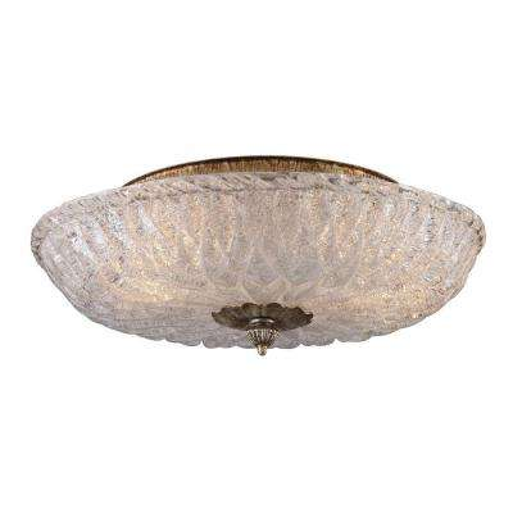 Providence 2-Light Silver Leaf Ceiling Flushmount