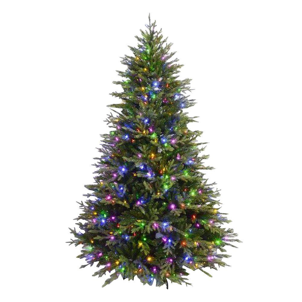 7.5 ft. Evergreen Quick-Set Artificial Christmas Tree with 550 ...