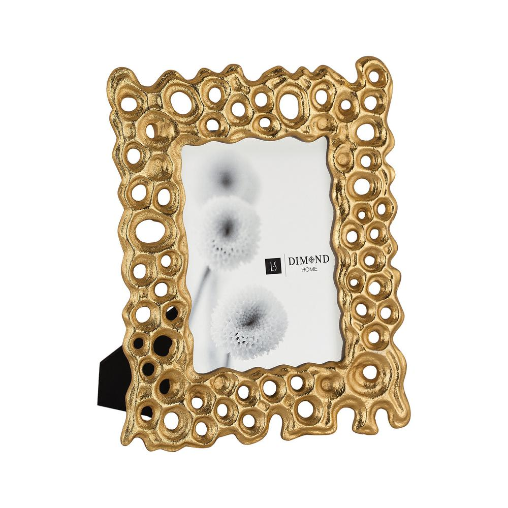 Titan Lighting Gold Rush 1-Opening 4 in. x 6 in. Gold Aluminum Picture Frame