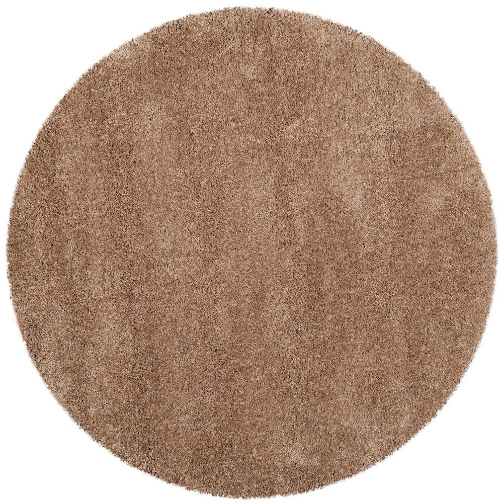 Safavieh Milan Dark Beige 7 Ft X Round Area Rug