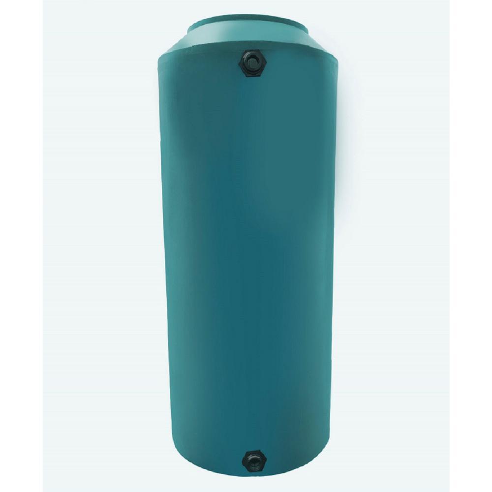 Chem-Tainer Industries 100 Gal  Green Vertical Water Storage Tank
