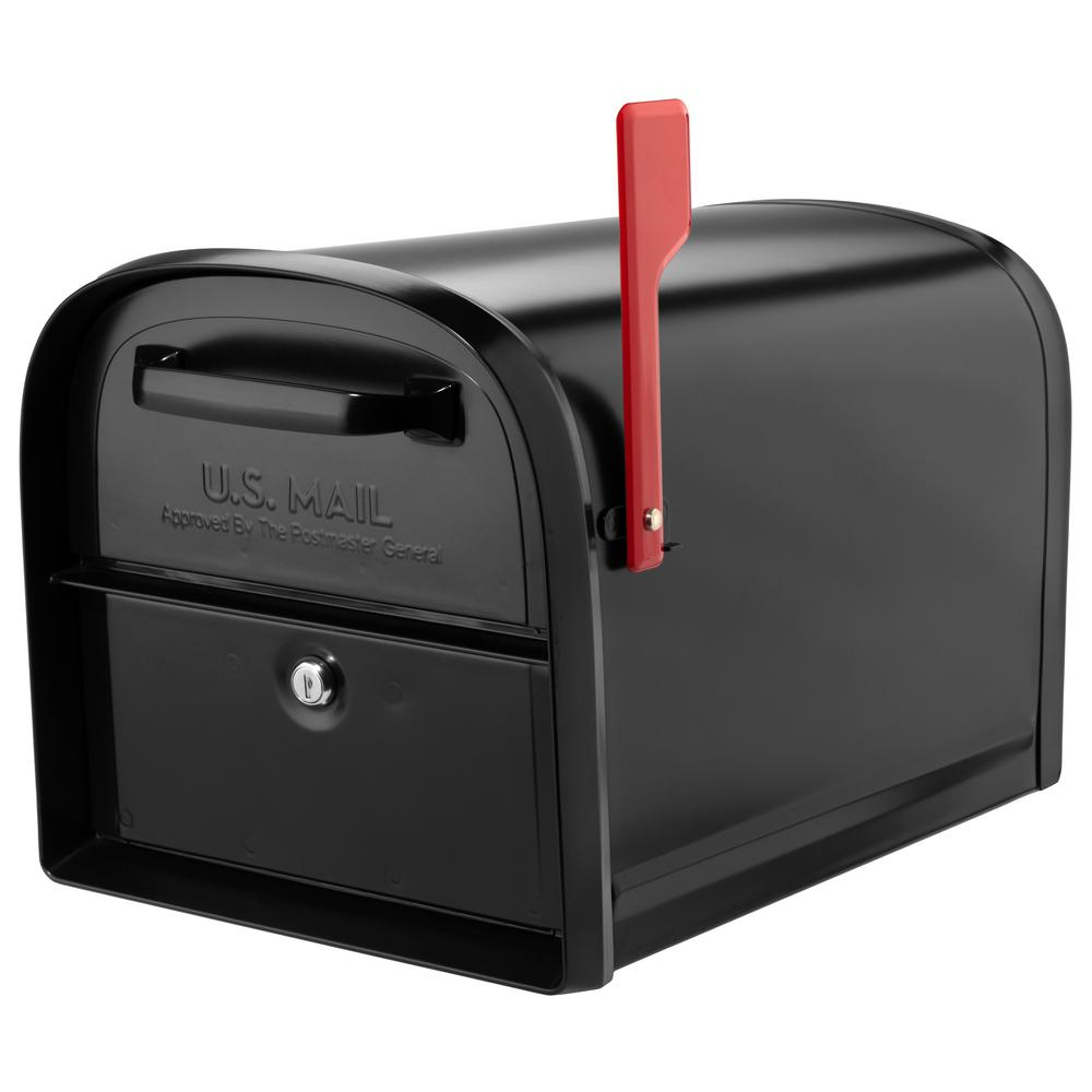 Architectural Mailboxes Oasis 360 Locking Parcel Mailbox With 2 Access Doors Black 6300b 10