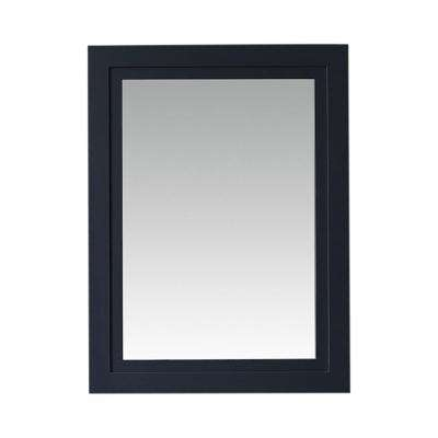 Lynn 24 in. x 32 in. Framed Mirror in Midnight Blue