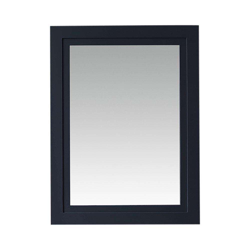 Framed Mirror In Midnight Blue